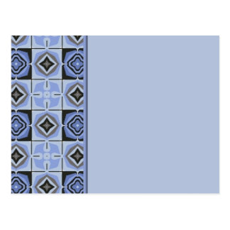 Blue Quilt Border Post Card