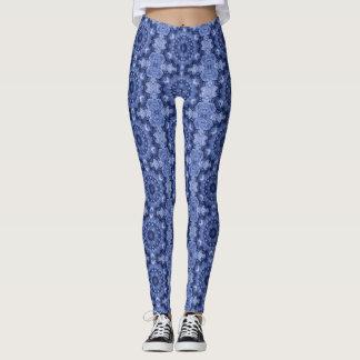 Blue Quilt Leggings