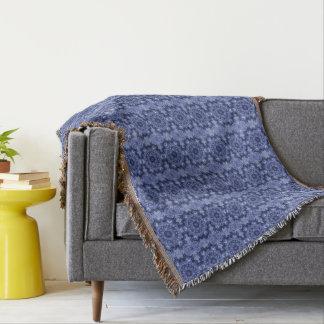 Blue Quilt Throw Blanket