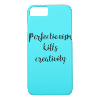 Blue Quoted iPhone 7 phone case
