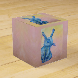 blue rabbit gift box favour boxes