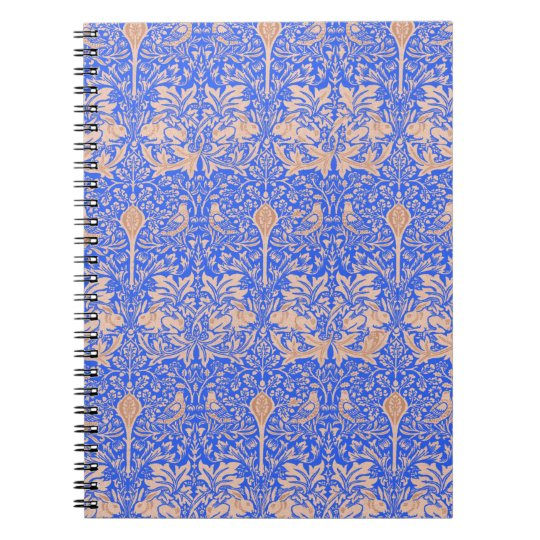 Blue Rabbits William Morris Art Nouveau Notebook