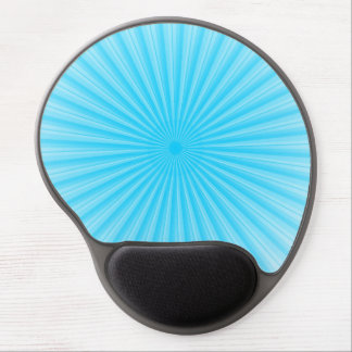 Blue Radial Sun Pattern Gel Mouse Pad