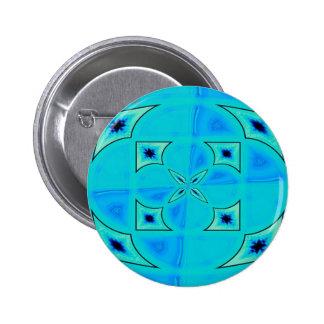blue radiation 6 cm round badge