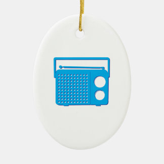Blue Radio Ceramic Oval Decoration