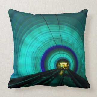 Blue railroad tunnel, Singapore Cushion
