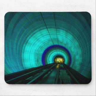Blue railroad tunnel, Singapore Mouse Pad