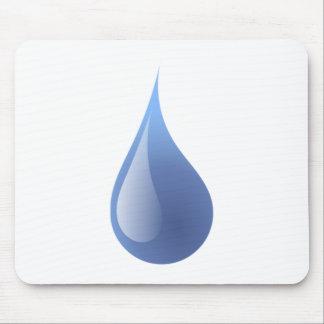 Blue Rain Drop Mouse Pad