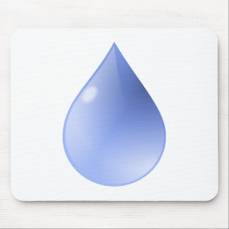 Blue Rain Drop Mouse Pads