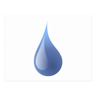 Blue Rain Drop Post Card