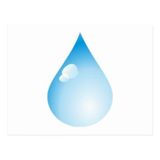 Blue Rain Drop Post Cards