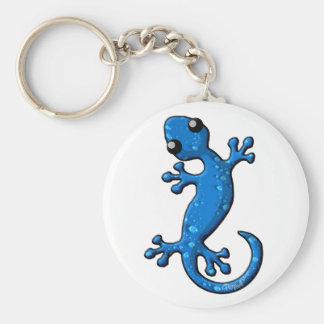Blue Rain Gecko Lizard Key Ring