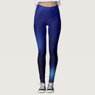 Blue rain leggings