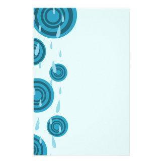 Blue Rain Stationery