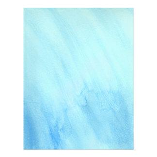 Blue Rain Storm Water Watercolor Paint Flyer