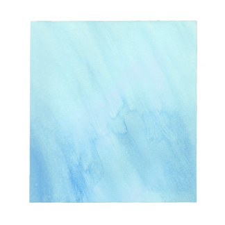 Blue Rain Storm Water Watercolor Paint Notepad