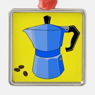 Blue Rainbow Espresso Christmas Ornament