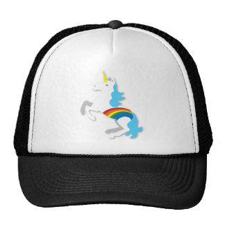 Blue rainbow unicorn cap