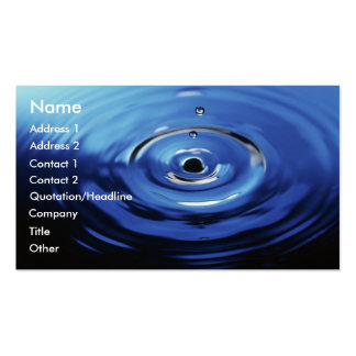 Blue Raindrop Double-Sided Standard Business Cards (Pack Of 100)