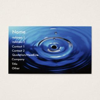 Blue Raindrop Business Card