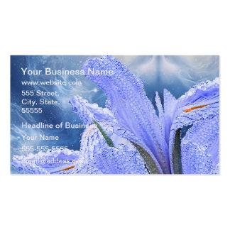 Blue raindrop Iris Pack Of Standard Business Cards