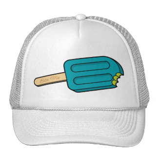 Blue Raspberry Popsicle Bite Me Hat (White)