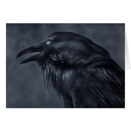 Blue Raven Greeting Card