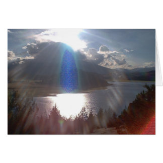 Blue Ray Guardian Greeting Card