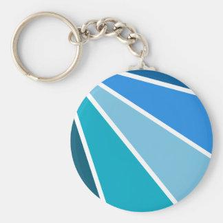 Blue Rays key chain, customizable Basic Round Button Key Ring