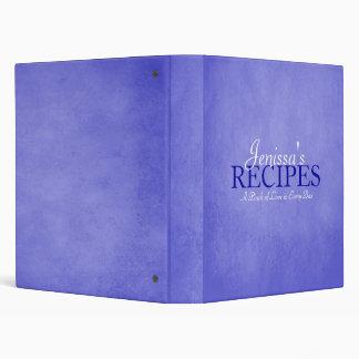 Blue Recipe Binder