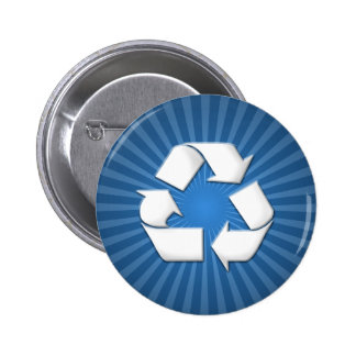 Blue Recycle Button 001
