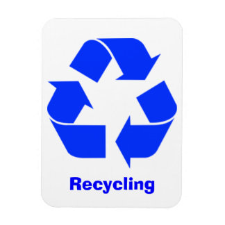 Blue Recycling Sign Magnet