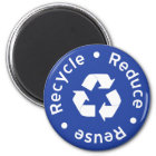 Blue Recycling Symbol Magnet