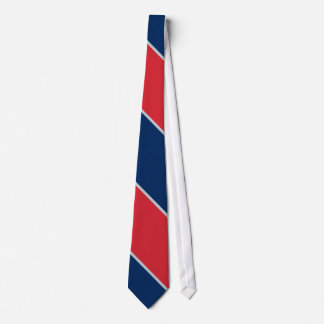 Blue Red and Gray-Striped Tie