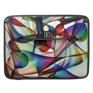 Blue red and white abstract sleeve for MacBook pro