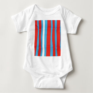 Blue Red and White Pillow Pattern Baby Bodysuit