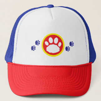 Blue, Red and Yellow Paws Animal Lover's Trucker Hat
