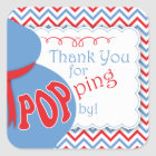 Blue & Red Belly Bump Baby Shower Favour Stickers