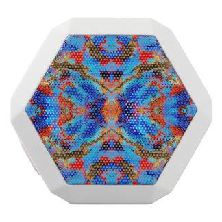 Blue Red Brown Watercolor Kaleidoscope