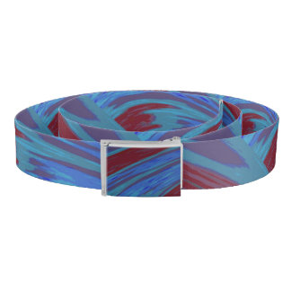 Blue red Color Swish Belt