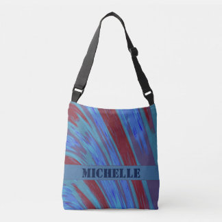 Blue  Red Color Swish Crossbody Bag