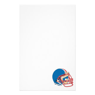 Blue Red Football Helmet Stationery Paper