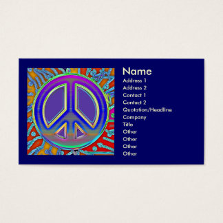 Blue Red Gold Fine Peace Sign