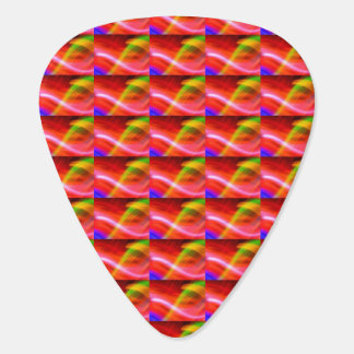 Blue Red Green and Blue Abstract Guitar Pick