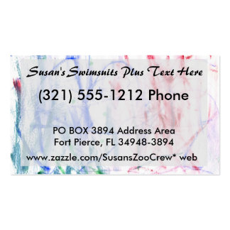 Blue red green white abstract scribble design pack of standard business cards