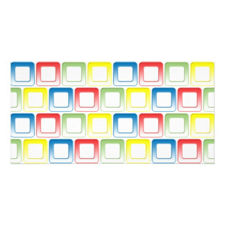 Blue Red Green Yellow frames pattern Photo Cards