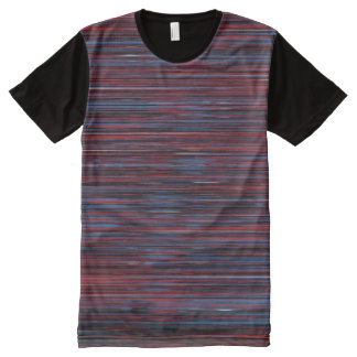 Blue-red horizontal rallado t-shirt All-Over print T-Shirt