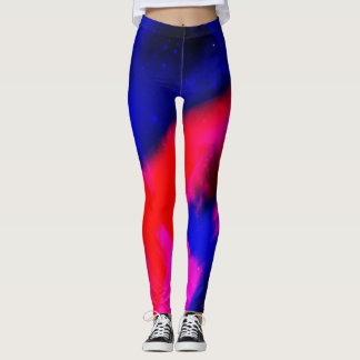 Blue red leggings