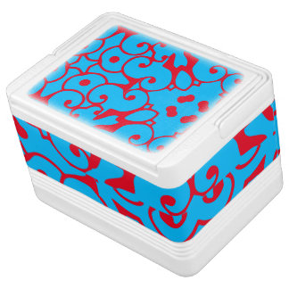 Blue Red Ornate 4Blake Igloo Cool Box