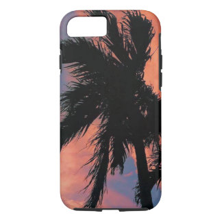 Blue & Red Palm Tree Sunset iPhone 8/7 Case